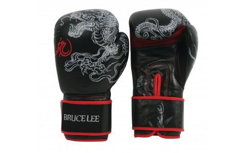 Manusi de Box, Tunturi, Bruce Lee Dragon, 16 OZ, Negru-Rosu