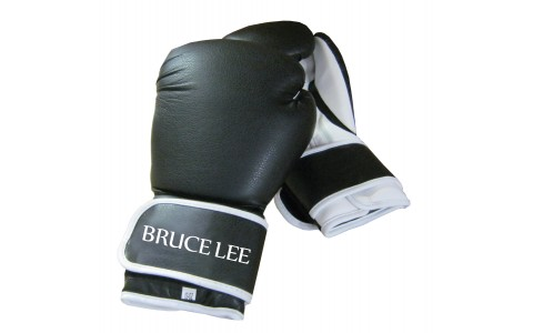 Manusi de Box, Tunturi, Bruce Lee, Allround, 14 OZ, Negru-Alb
