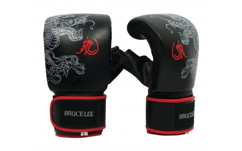Manusi de Box, Tunturi, Bruce Lee Dragon, XL, Negru-Rosu