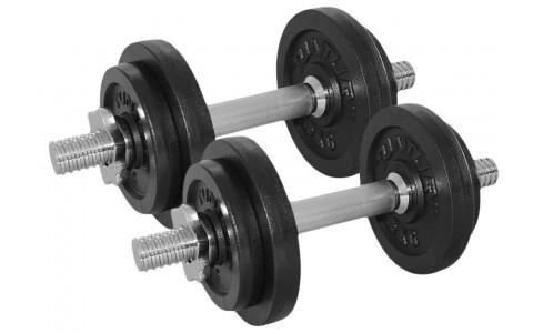Set greutati Barbell/Dumbbel, Tunturi, 20 kg