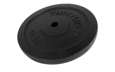 Disc Greutate, Tunturi, Negru, 15kg