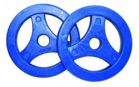 Discuri Aerobice Caucicate, Tunturi, 2x2.50 kg