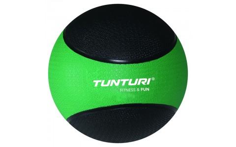 Minge medicinala, Tunturi Medicine Ball 2kg, Verde/Negru