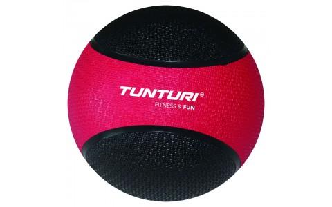 Minge medicinala,Tunturi Medicine Ball 3kg,Rosu/Negru