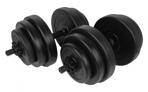 Set greutati Barbell/Dumbbel, Tunturi, 30 kg