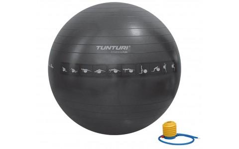Minge Fitness, Tunturi, 75 cm, Negru