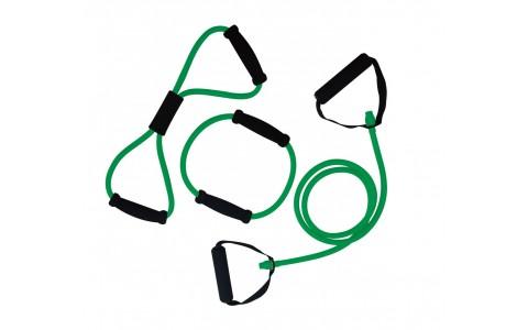 Set trei Extensori fitness, Tunturi, Verde, 170cm, 40cm, 20cm