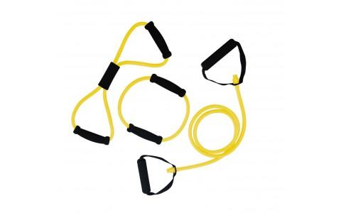 Set trei Extensori fitness, Tunturi, Galben, 170cm, 40cm, 20cm