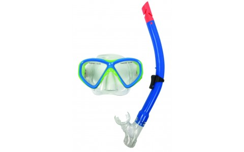 Set snorkeling, Tunturi, Junior, Verde-Albastru