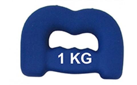 Set Greutati, Spartan, B - Shape, 2x1 Kg, Albastru