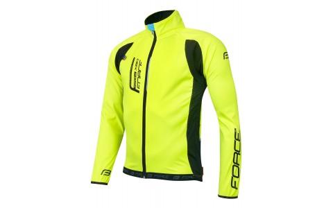 Jacheta Ciclism, Force, F X80, Subtire, Unisex, Fluorescent-Negru