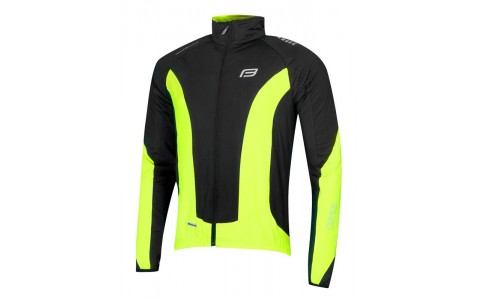 Jacheta Ciclism, Force, X68, Cu Maneci Lungi, Negru-Fluorescent, Poliester