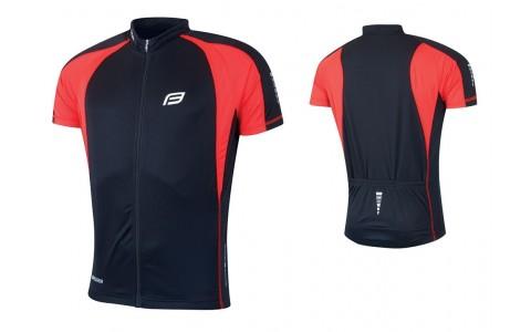 Tricou Ciclism Barbati, Force, T10, Negru-Rosu, Poliester