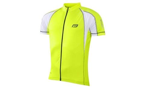 Tricou Ciclism Barbati, Force, T10, Galben Fluorescent, Poliester