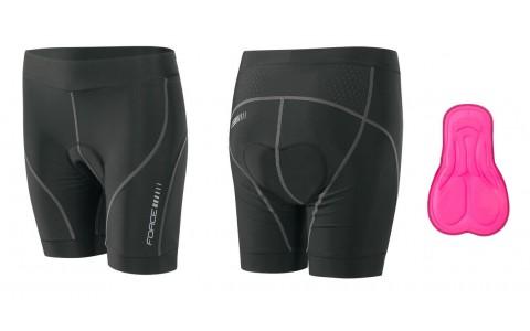Pantaloni Scurti, Force, Lady, Negru, Cu Bazon