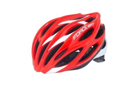 Casca Bicicleta, Force, Bat, Rosu-Alb, Elemente Reflectorizante