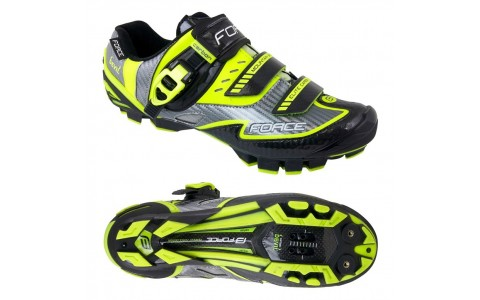 Pantofi Ciclism Barbati, Force, MTB, Devil, Talpa Carbon, Fluorescent