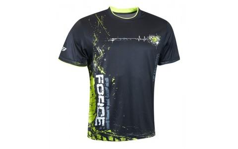 Tricou Ciclism, Force, Art, Negru-Fluorescent, Poliester