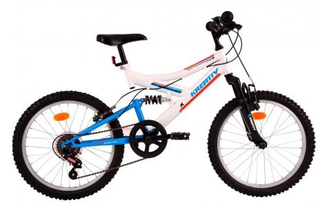 Bicicleta Copii, DHS, Kreativ 2041, Model 2017, 20 inch, Alb