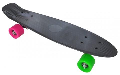 Penny Board, Axer, California, Negru, Plastic, 56x15x10 cm
