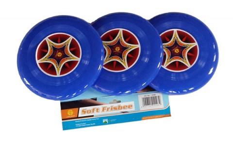 Disc Zburator Frisbee, Spartan, Albastru, 3 Buc/Cutie