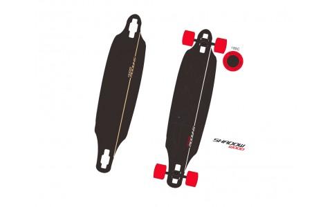 Longboard, Spartan, Shadow Wood, 42 inch, ABEC 9, 107x23 cm
