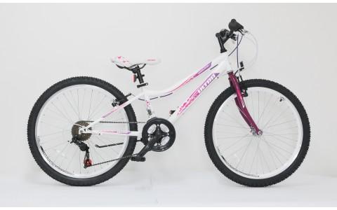 Bicicleta copii fetite Ultra Gravita, 24inch, alb-mov