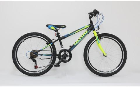 Bicicleta copii Ultra Storm, 24inch, negru-galben-albastru