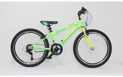 Bicicleta copii Ultra Storm, 24inch, verde-galben-albastru