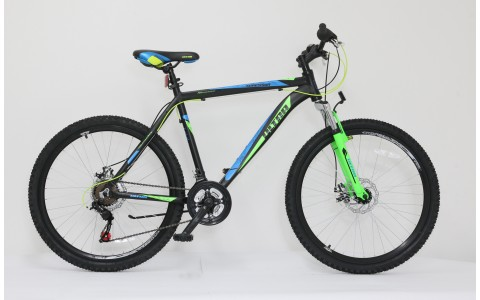 Bicicleta Ultra Agressor, 26inch, 520mm, negru-verde-albastru