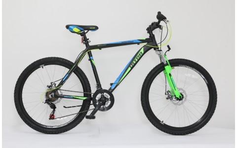 Bicicleta Ultra Agressor, 26inch, 480mm, negru-verde-albastru