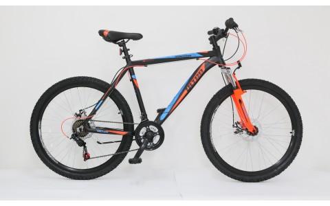 Bicicleta Ultra Agressor, 26inch, 480mm, negru-albastru-portocaliu
