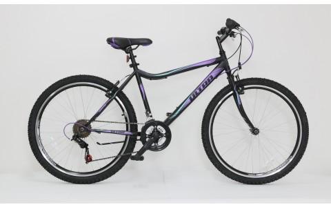 Bicicleta dama MTB Ultra Gravita, 26inch, 46cm, negru-mov-verde