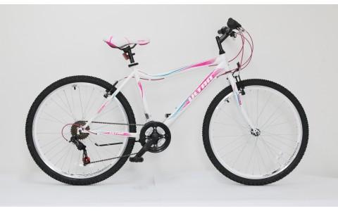 Bicicleta dama MTB Ultra Gravita, 26, 460mm, alb-roz