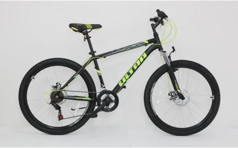 Bicicleta MTB Ultra Razor, 26inch, 440mm, negru-verde