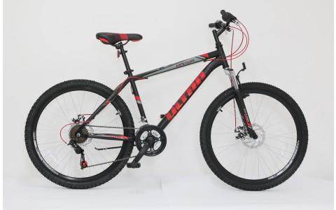 Bicicleta MTB Ultra Razor, 26inch, 440mm, negru-rosu