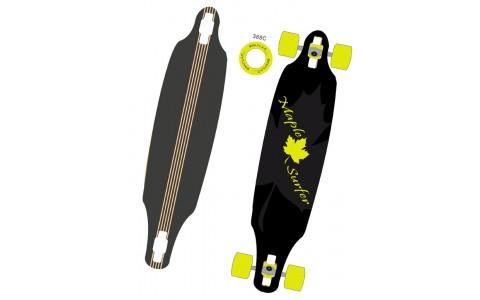 Longboard, Spartan, Maple Surfer, 38 inch, Ax Aluminiu, 95.5x23 cm, Negru