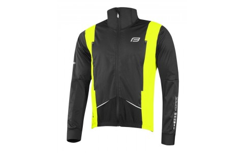 Jacheta Ciclism Barbati, Force, X58, Negru-Fluorescent, Poliester