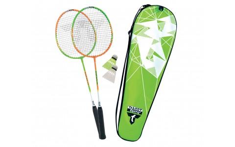 Set badminton, Talbot Torro, Federball Set 2-ATTACKER, Verde-Alb