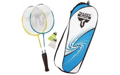 Set Badminton, Talbot Torro, 2 Rachete Attacker Junior cu Husa