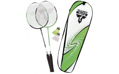 Set Badminton, Talbot Torro, 2 Attacker, Rachete + Fluturasi + Husa