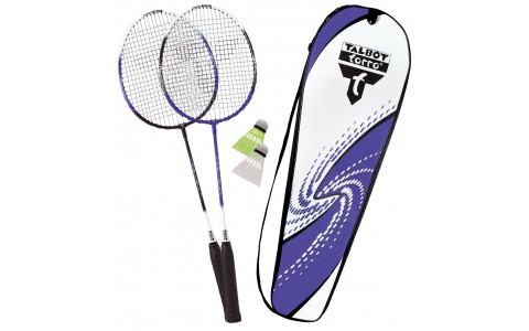 Set Badminton, Talbot Torro, 2 Fighter, Rachete + Fluturasi + Husa