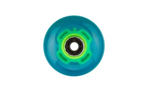 Roti Longboard/Pennyboard cu led Nijdam, 60x45 mm, Albastru, 4 bucati