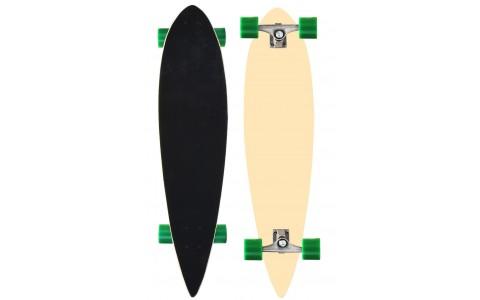 Longboard Axer, 52OW-NAT, 99x23cm, negru