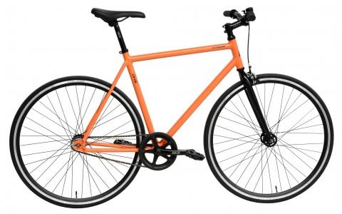 Bicicleta Fixie, DHS, 2896 (2016), Portocaliu, Cadru Aluminiu, Roti 28 inch