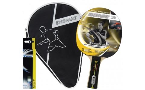 Set Paleta Tenis de Masa, Donic, Waldner Level 500 + Husa + Set 3 Mingi