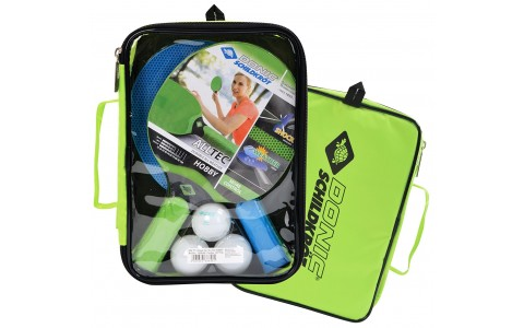 Set palete tenis de masa, Alltec Hobby Set, Donic, 1 Verde-1 Albastra