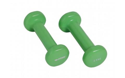 Set 2 Gantere, Schildkrot Fitness, Viny,l Verde, 2 x 0.5 kg
