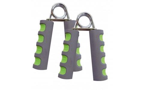 Set 2 Grip, Schildkrot, Trainer pentru Musculatura Mainilor, Verde - Gri