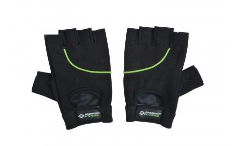 Manusi de fitness, 50% polyester, 35% stretch microfibre, 15% PU, Negru-Verde